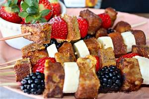 French Toast Fruit Kabobs made with Leftover Banana Bread