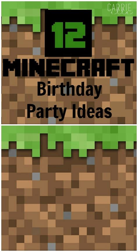 12 Minecraft Party Ideas  Carrie Elle