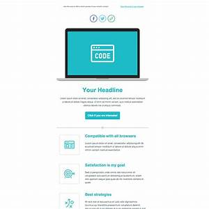 product launch free responsive email newsletter template With new product launch email template