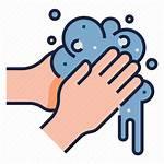 Icon Washing Hygiene Icons Wash Hands Healthy