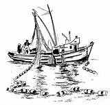 Fishing Boat Coloring Pages Drawing Sea Cartoon Dropping Boats Line Kidsplaycolor Sketches Sketch Surfing Scroll Saw Patterns Mini sketch template