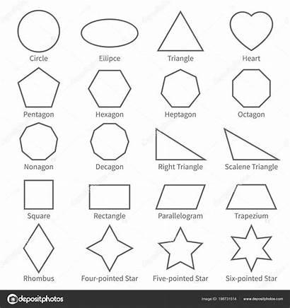 Shapes Geometric Outline Basic Flat Geometry Forme