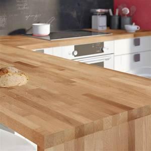 plan de travail bois hetre brut mat l250 x p65 cm ep38 With plan de travail cuisine hetre