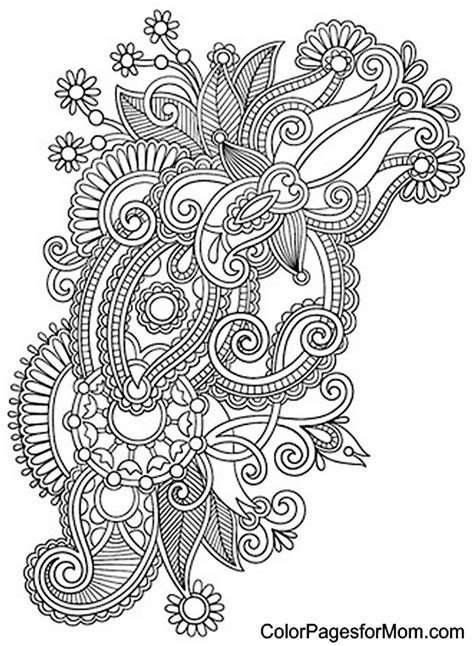 Paisly - Free Coloring Pages