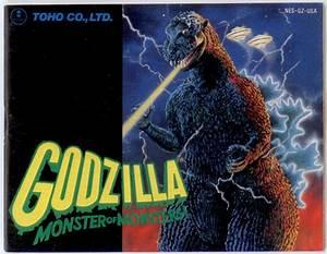 Manual Godzilla Monster Monsters Nintendo Nes Instructions