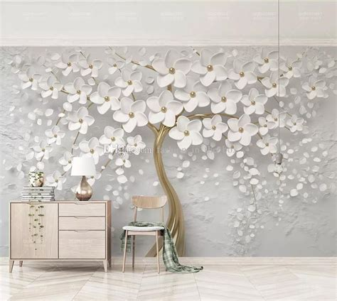 elegant white flower wallpaper luxury jewelry  custom