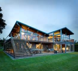 Genius Glass House Plans by Earthy Timber Clad Interiors Vs Glass Exteriors