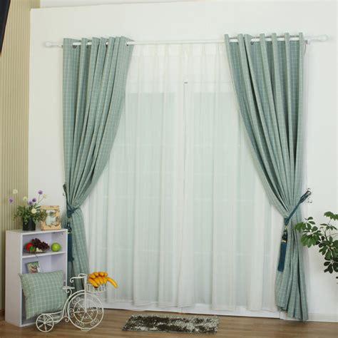atrovirens color plaid contemporary bedroom curtains
