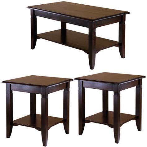 nolan coffee table end tables value bundle cappuccino walmart com