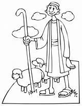 Sheep Shepherd Coloring Pages Pastor Preacher Template Bible Ovelha Resolution sketch template