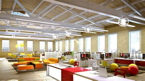 creative office space ideas office creative office space design with comfy wing blue chair and square white cushion also