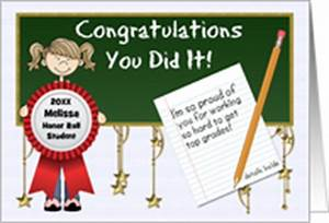 Congratulations On Making The Honor Roll Cards from ...