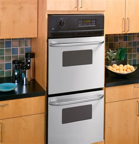 ge jrpskss   double electric wall oven   cu ft oven  clean smartset