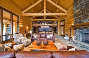 log home interior design 21 rustic log cabin interior design ideas style motivation