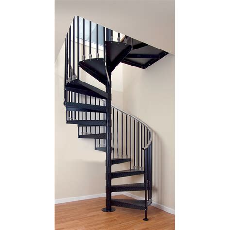 spiral staircase lowes shop the iron shop elk grove 42 in x 10 25 ft gray spiral staircase kit at lowes com
