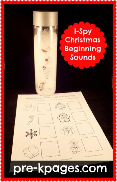 holiday  spy beginning sounds activity