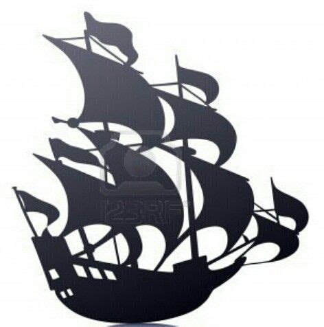 sailing pirate ship templatestencil mural rfcom