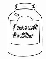 Butter Peanut Jar Template Coloring Pages Templates sketch template