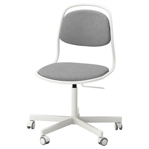 214 rfj 196 ll sporren swivel chair white vissle light grey ikea