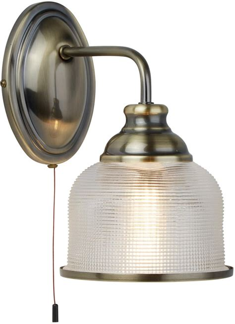 bistro ii antique brass switched wall light retro style