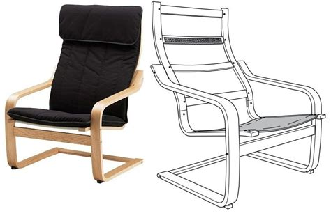 Ikea Poang Armchair Body Frame Wooden Structure