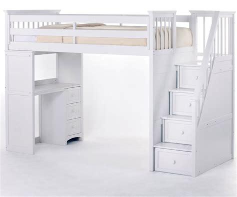kids loft bed and desk ne kids house stair loft bed in white model 7090
