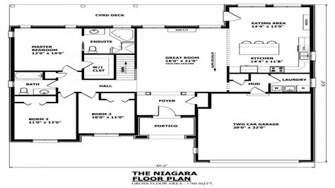 Residential House Plans 4 Bedrooms House Plans Canada