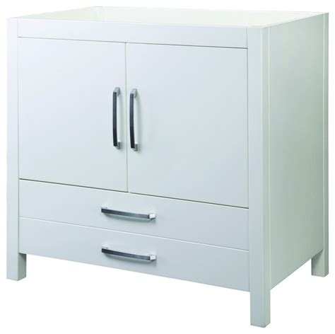 vanities without sink top decolav 5223 wht cameron vanity without top in white