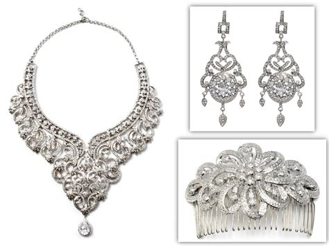 dazzling statement bridal necklace chandelier earrings