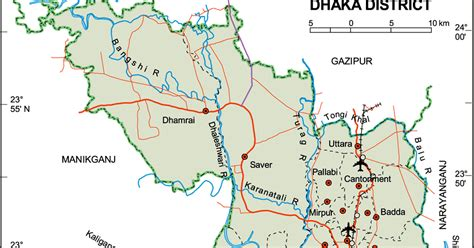 Political Map Of Dhaka District