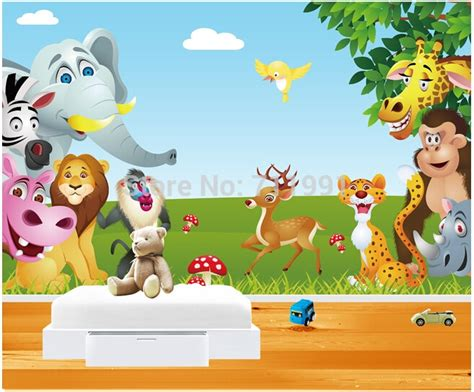 Childrens Animal Wallpaper - customize childrens wallpaper animal paradise of children