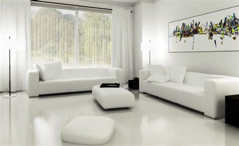 White Living Room Curtains Solid Themed White Living