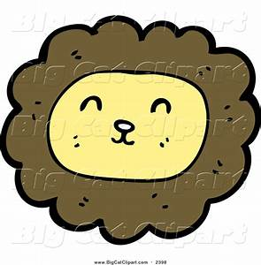 Big Cat Cartoon Vector Clipart of a Smiling Male Lion by ...