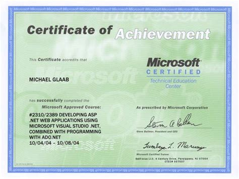 it courses free with certificate michael glaab is it certificates course completion and