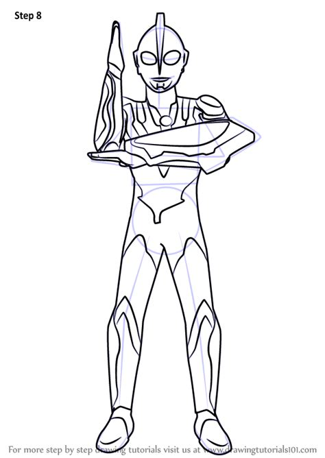ultraman drawing sketch coloring page