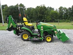 John Deere 1025r With Front End Loader And Backhoe