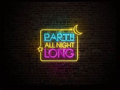 Neon Sign Party Animation Simple Dribbble