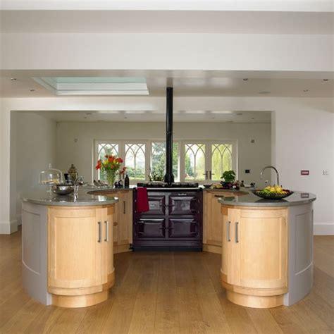 circular kitchen island circular island unit classic farmhouse kitchen tour
