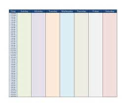 7-Day Week Blank Calendar Template
