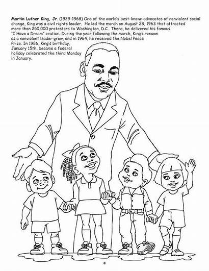 Coloring African Luther Martin King American Leaders