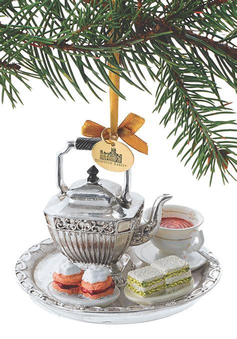 downton abbey tea set ornament acorn  holidays