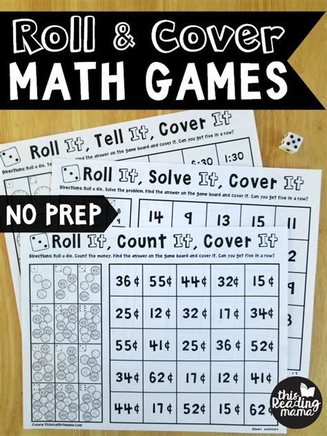 prep addition games roll cover  reading mama