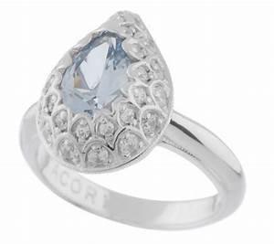 tacori iv diamonique epiphany blue pear ring qvccom With tacori wedding rings qvc