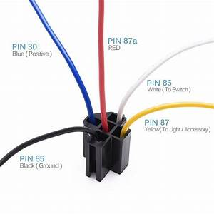 5pcs Dc 12v Car Spdt Automotive Relay 5 Pin 5 Wires W  Harness Socket 30  40 Amp G