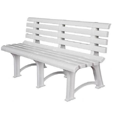 banc en resine banc de jardin en r 201 sine blanche 149 cm achat vente