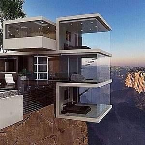 Maison d'architecte sur un ravin