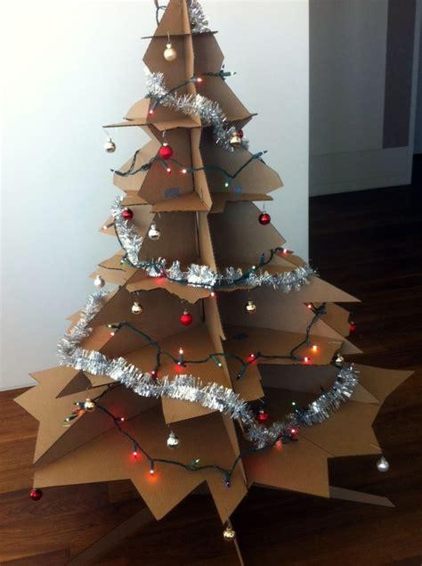 cardboard christmas tree decor cardboard christmas