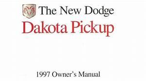 1997 Dodge Dakota Owners Manual User Guide Reference
