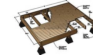 standing deck construction plans quotes house plans 73597