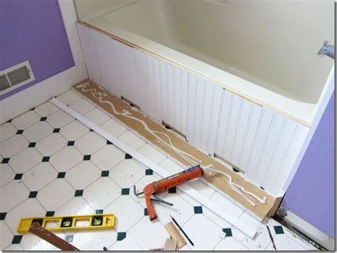 bathtub floor trim bathroom makeover how to add decorative molding to a 1509